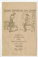 """1947 Edwardsville High School Program For """"Don't Darken My Door"""""""