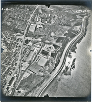 Aerial View of Owens-Illinois Glass Factory, Alton, and Mississippi River