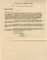 Personal letter to Louise Mudge, 1944