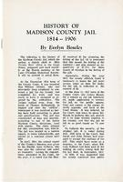 History of Madison County Jail, 1814 - 1906, by Evelyn Bowles