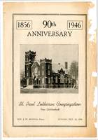 St. Paul Lutheran Church 90th Anniversary History Pamphlet