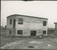 Trumbles 1 and 2 Receiving House  during the 1917-1918 Construction of the Wood River Refinery