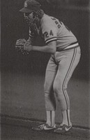 "Kenneth ""Obie"" Oberkfell at Ready Stance in St. Louis Cardinals Uniform"