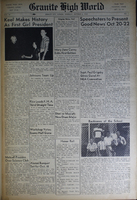 """""""Granite High World"""" School Newspapers for the 1949-50 School Year"""