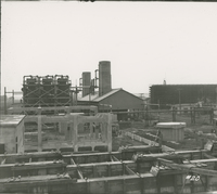 Trumbles 1 and 2 from 3 and 4 Receiving House   during the 1917-1918 Construction of the Wood River Refinery