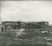 Trumble 3 and 4 Receiving House and Supports in Form   during the 1917-1918 Construction of the Wood River Refinery