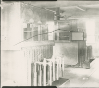 Trumbles 1 and 2 Receiving House Interiors  during the 1917-1918 Construction of the Wood River Refinery
