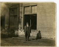 Mr. Daenzer standing outside of the coal mine in Glen Carbon, Illinois