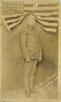"Albert ""Peck"" Bieser in his World War I U.S. Army Uniform"