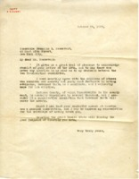 Letter from D. H. Mudge Sr. to  Franklin D. Roosevelt