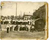 Ground view of the 1918 Liberty Bond Drive for WWI at coal mine #2 in Glen Carbon, Illinois