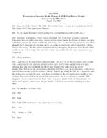 David Sill Oral History