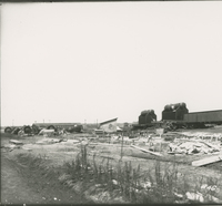 Boilers before unloading   during the 1917-1918 Construction of the Wood River Refinery