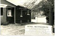 Bethel Meeting House Memorial Next to Brick Home
