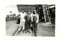 1952 Men Posing Behind Oil Rail Car During Strike