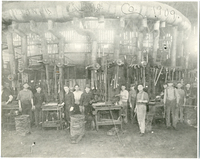 Workers Inside Owens-Illinois Glass Factory
