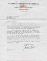 1943 Letter from Spencer T. Olin to Armond L. Hutchens