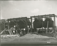 Boiler House, Boilers in Place  during the 1917-1918 Construction of the Wood River Refinery