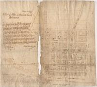 Original 1818 Town Plan of Alton by Rufus Easton