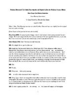 Mary Kane Oral History