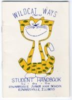 """1960-61 Edwardsville Junior High School Student Handbook """"Wildcat Ways"""""""