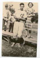 Collinsville Indian Baseball Player Wilbur and Margaret Richter Pose Together
