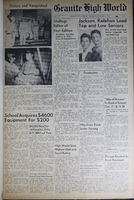 """""""Granite High World"""" School Newspapers for the 1945-46 School Year"""