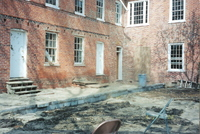 Restoration of the back porch of the Stephenson House in 2003