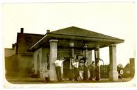 1930s Postcard of Men at Delan Station