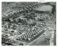 1954 Aerial Photograph of Refinery Tanks