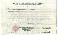 "Certificate for Solomon Mudge to raise ""additional military force"" on February 11, 1847 from the United States government"