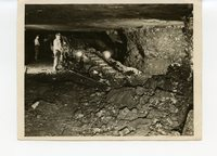 Miners working inside the coal mine in Glen Carbon, Illinois.