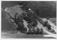 Late 1960s Aerial Photo of Village Motel in Highland, Illinois