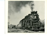 Steam Engine No. 730 Pulling Various Train Cars