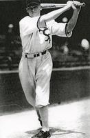 1934 Robert 'Bob' Boken at Bat in White Sox Uniform