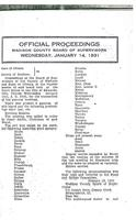 January 14, 1931 Official Proceedings of the Madison County Board of Supervisors