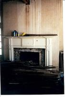 Fireplace inside the Stephenson House during resoration in the early 2000s