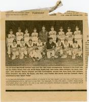Alt-Wood Merchants Softball Team, 1963 State Champions