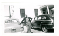 1952 Man Leaning Against Car During Standard Oil Company Strike