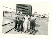 1952 Four Men Posing for Photograph During Standard Oil Strike