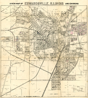1931 Plat Map of Edwardsville