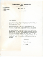 "1957 Standard Oil Golden Anniversary Letter for the Magic Show ""Catalyst Magic"""