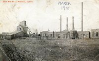 1910 Postcard Displaying Buildings of the Exteriror  of the Donk Brothers Mine no. 2
