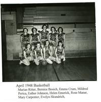 1948 Photograph of Girls' Basketball Team