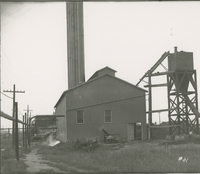 Boiler House Ash Tank  during the 1917-1918 Construction of the Wood River Refinery