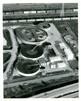 Water Treatment Plant Aerial Photograph
