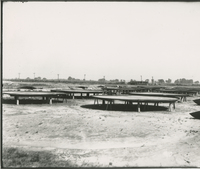 Trumbles 1 and 2 Receiving Tank Bottoms  during the 1917-1918 Construction of the Wood River Refinery