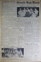 """""""Granite High World"""" School Newspapers for the 1950-51 School Year"""