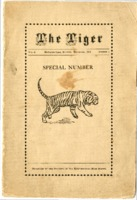 """""""The Tiger, vol. 1"""" Student Publication of Edwardsville High School from November 1911"""
