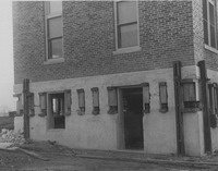 1926 West Wing with Installed Jacks at the Madison County Tuberculosis Sanitarium in Edwardsville after Mine Subsidence